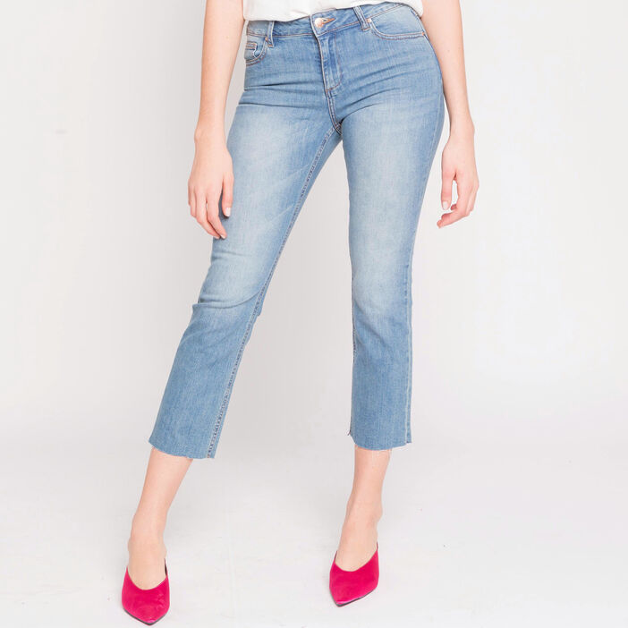 Jeans cropped   denim stone femme