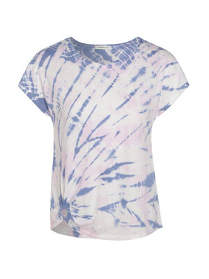 T shirt tie and dye rose femme