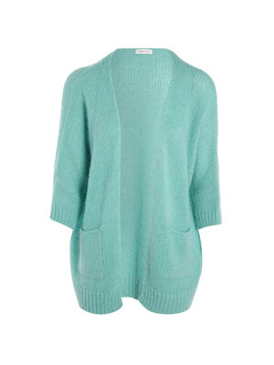 Gilet manches 34 a coupe loose vert clair femme