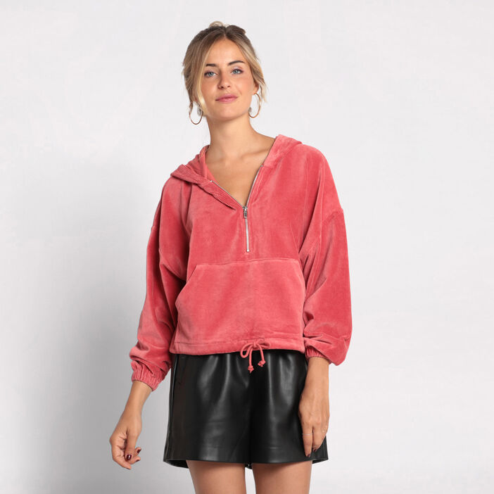 Sweat manches longues velours  femme
