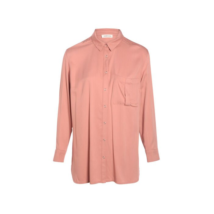 Chemise manches longues rose femme