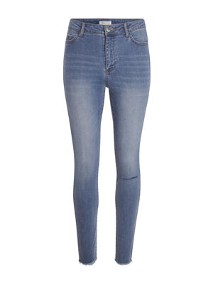 Jeans skinny taille haute denim double stone femme
