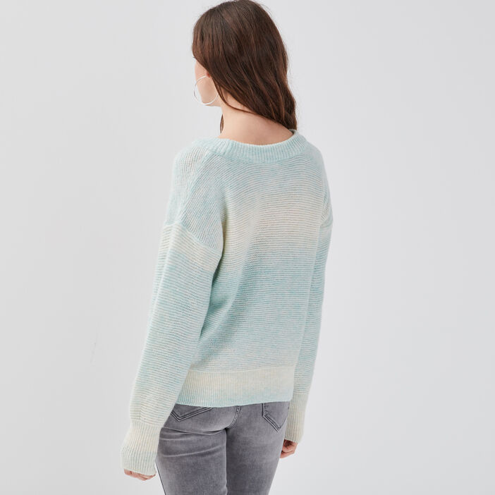 Pull manches amples vert clair femme