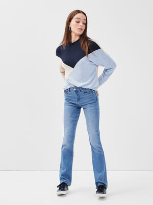 Jeans regular denim double stone femme