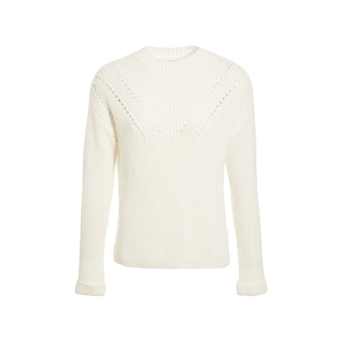Pull col montant sable femme