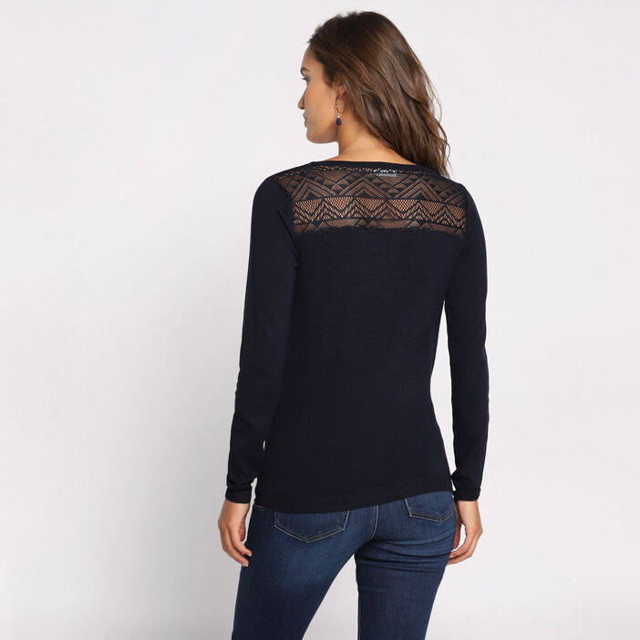 Pull  manches longues col V  femme